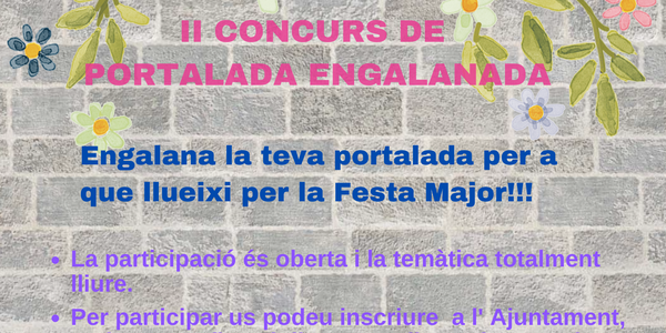 II CONCURS PORTALADA ENGALANADA